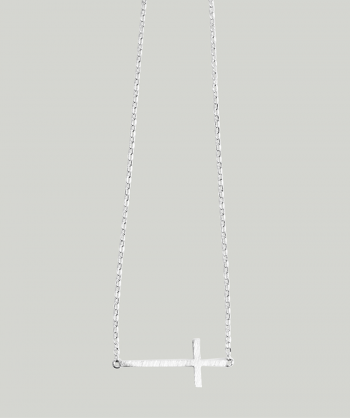 ATELIER DU NOIR Cross Silver necklace