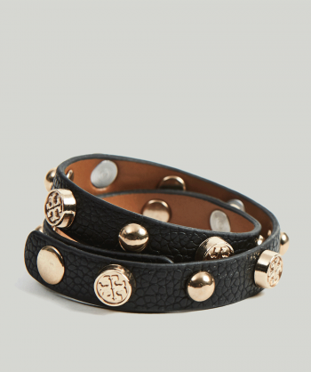 ATELIER DU NOIR Wrap leather bracelet